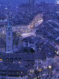Rooftops of Old Town  Bern  Switzerland