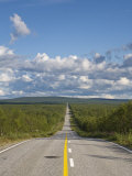 Arctic Road Towards Kilpisjarvi  Arctic Circle  Lapland  Finland