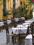 Cafe Tables  Hania  Hania Province  Crete  Greece