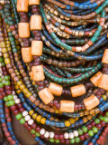Colourful Beads Worn by a Woman of the Galeb Tribe  Lower Omo Valley  Ethiopia