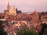 Semur-En-Auxois  Chablis  Burgundy  France