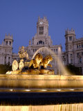 La Cibeles Fountain  Plaza de La Cibeles  Madrid  Spain