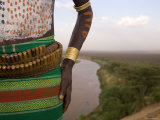 Karo Tribesman Wearing a Belt of Bullets  Lower Omo Valley  Ethiopia