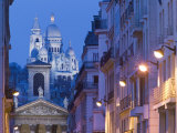 Sacre Coeur and Notre Dame de Lorette  Paris  France