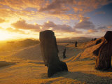 Moai Quarry  Easter Island  Chile