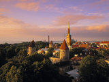 Old Town from Toompea  Tallinn  Estonia