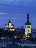 Skyline of Old Town  Tallinn  Estonia