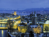Skyline of Zurich  Switzerland