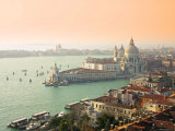 Basilica Di Santa Maria Della Salute and Grand Canal  Venice  Italy