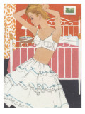 1960's Boudoir Brassiere and Petticoat Graphic