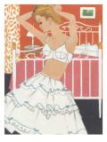 1960's Boudoir Brassiere and Petticoat Graphic