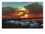 1960's Caravan Park in the Sunset