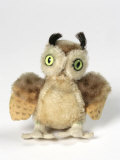 Soft Toy Owl in Printed Mohair Plush  1963