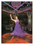 Purple Dress Disco Dancing