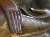 Detail of Buddha Statue  Wat Sa Si  Vientiane  Laos