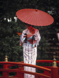 Geisha Girl with Kimono at Festival  Japan