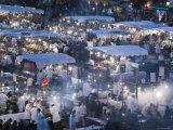 Food Stalls  Djemma El-Fna Square  Marrakash  Morocco