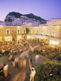 Piazzetta  Capri Town  Capri  Bay of Naples  Italy