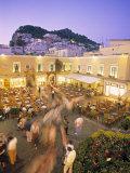 Piazzetta  Capri Town  Capri  Bay of Naples  Italy