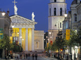 Gedimino Bell Tower and Cathedral  Vilnius  Lithuania