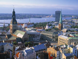 Skyline of Riga  Latvia