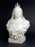 Bust of Queen Victoria in Marble  c1888