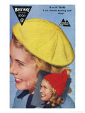 1950's Teen's Knitted Beret and Pixie Hood