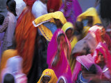 Women Wearing Saris  Pushkar  Rajasthan  India