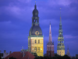 Dome Cathedral  St Peter&#39;s and St Saviour&#39;s Churches  Riga  Latvia