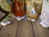 Japanese Kimonos and Geta Slippers  Miyajima  Hiroshima  Japan