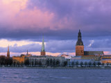 Riga from Across Daugava River  Latvia