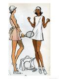 Tennis Dress Patternmaking Illustration