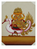Five Headed Brahma on a Goose  India
