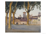 On the Walls  Lucca  c1923