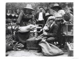 Pig Lady at the Paris Animal Market  20th Century