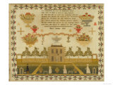 Large House and Garden Sampler  c1839