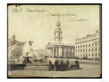 Fountains  Trafalgar Square  London  19th Century