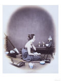 Japanese Girl at Toilet  19th Century