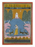 Todi Ragini Playing the Vina to Four Deer