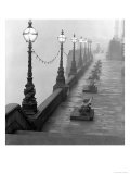 Lamp Posts and Benches by the River Thames