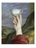 Study of a Hand Holding a Cup  19th Century