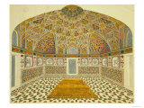 Interior of the Mausoleum of Itimad-Ud Daula  Agra  India