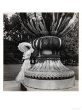 The Queen Mother in Buckingham Palace Garden with Umbrella  c1939