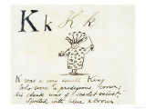 The Letter K of the Alphabet  c1880 Pen and Indian Ink