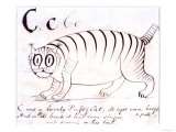 The Letter C of the Alphabet  c1880 Pen and Indian Ink
