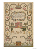 English Sampler by Elizabeth Jane Richards  c1800