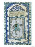 Tile with a Plan View of the Masjid Al-Haram  or Great Mosque  At Mecca  c1666