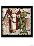 God of Love and Alceste from Chaucer's Love of Good Women on Stained Glass