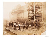 The Great Eastern under Construction  19th Century