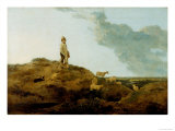 Young Shepherd and His Dog Watching over a Flock of Sheep at Mousehold Heath  19th Century